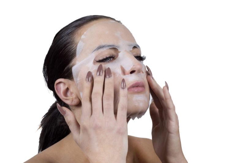 textilní pleťové masky
