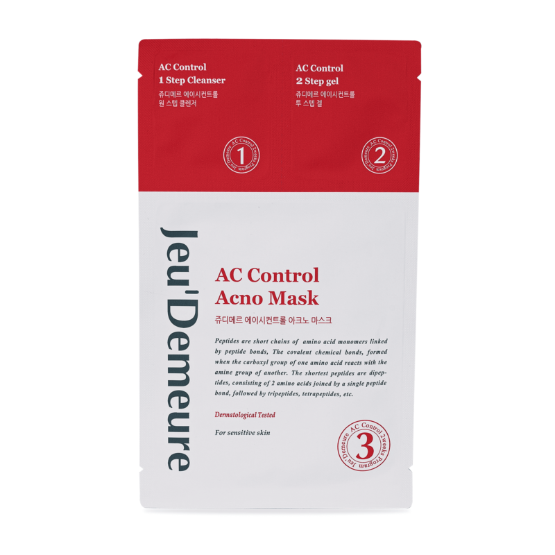 AC Control pleťová textilní maska s čistící emulzí a ochranným gelem,AC Control pleťová textilní maska,maska s čistící emulzí
